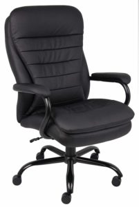 Boss office products B991 - CLICK Heavy Duty Double Plush Leather Duty Chair with 351lbs