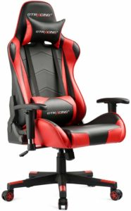 GTRACING Gaming officer chair game racing ergonomic seat height adjustment computer chair with pillows recliner swirl rocker headrest and lumber Tilt E-sports chair