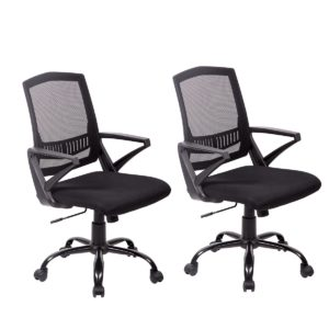 BestMassage Set of 2 Home Office Chair Desk Ergonomic Computer Adjustable Swivel Rolling Chair with Lumbar Support Task Mesh Chair for Women, Men