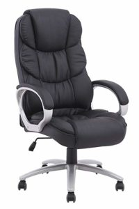 BestOffice Ergonomic PU Leather High Back Office Chair, rxUDEb 3 Pack (Black)