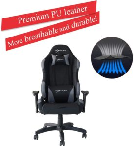 E-WIN Gaming Chair Ergonomic High Back PU Leather Racing Style with Adjustable Armrest and Back Recliner Swivel Rocker Office Chair