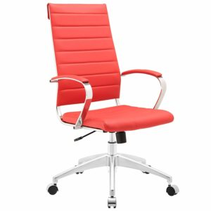 Modway Jive Highback Office Chair, Red