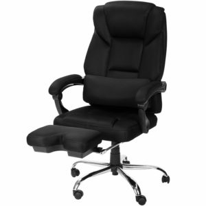 Merax High Back Executive and managerial Napping chairs with Footrest and Back Support Reclining Office Chair Mesh Chair