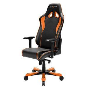 DXRacer OH/SJ08 Sentinel Series Racing Ergo Seat Office Chair Gaming Ergonomic with - Free Head and Lumbar Support Pillows (Black/Orange)