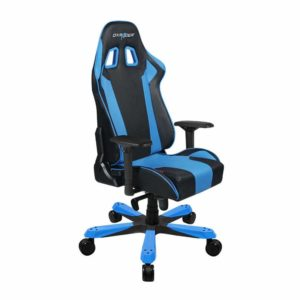 DXRacer King Series Big and Tall Chair DOH/KS06/NB Racing Bucket Seat Office Chair Gaming Chair Ergonomic Computer Chair Esports Desk Chair Executive Chair Furniture with Pillows (Black/Blue):