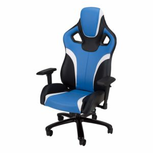Galaxy XL - Big and Tall, Large Size Gaming Chair by SkyLab Performance Seating, Blue/Black/White