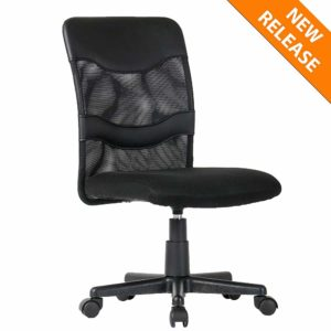 B2C2B Ergonomic Office Chairs Mid-Back Mesh Task Chair Height Adjustable Executive Computer Desk Chair with Armrest, Black