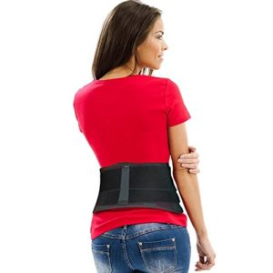 Lower Back Brace by AidBrace - Fast Lower Back Pain Relief for Herniated Disc, Sciatica, and Scoliosis for Men & Women - Includes Removable straps