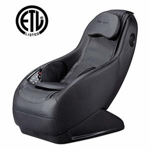 Full Body Electric Shiatsu Massage Chair Fully Assembled Video Gaming Chair with Airbag Massage SL-Track Curved Long Rail Wireless Bluetooth Speaker USB Charger for Office Home Living Room PS4, Black