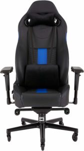 Corsair CF-9010009 WW T2 Road Warrior Gaming Chair comes with great Comfort and Design, Black/Blue